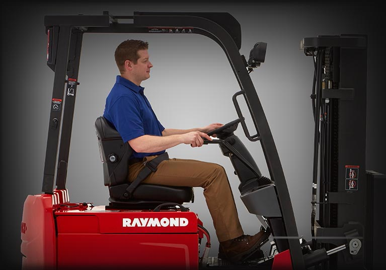 sit down forklift compartment