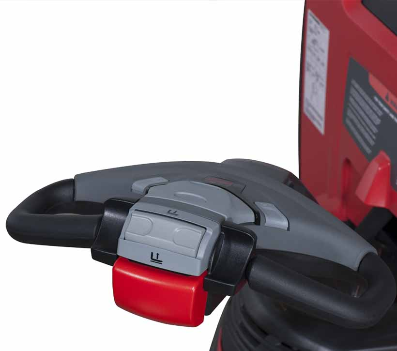 Motorized Pallet Jack, Raymond 8210 Power Pallet Jack intuitive control handle