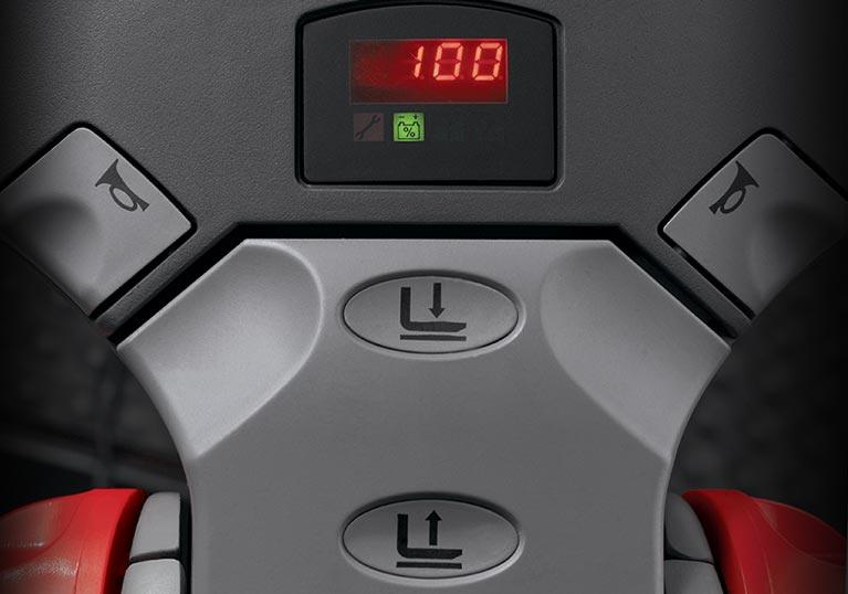 Raymond 8510 Center Riding Pallet Truck Battery Discharge Indicator