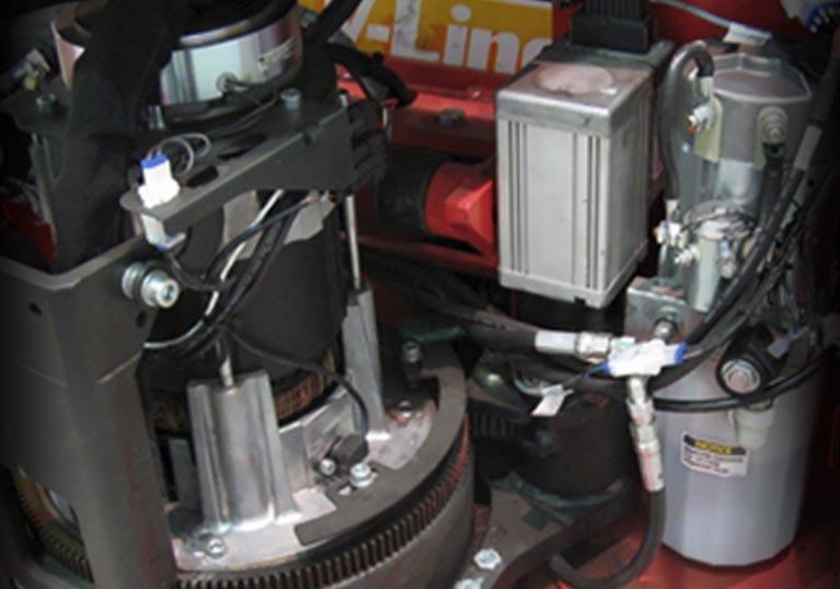 Raymond 8510 Center Riding Pallet Truck PowerSteer