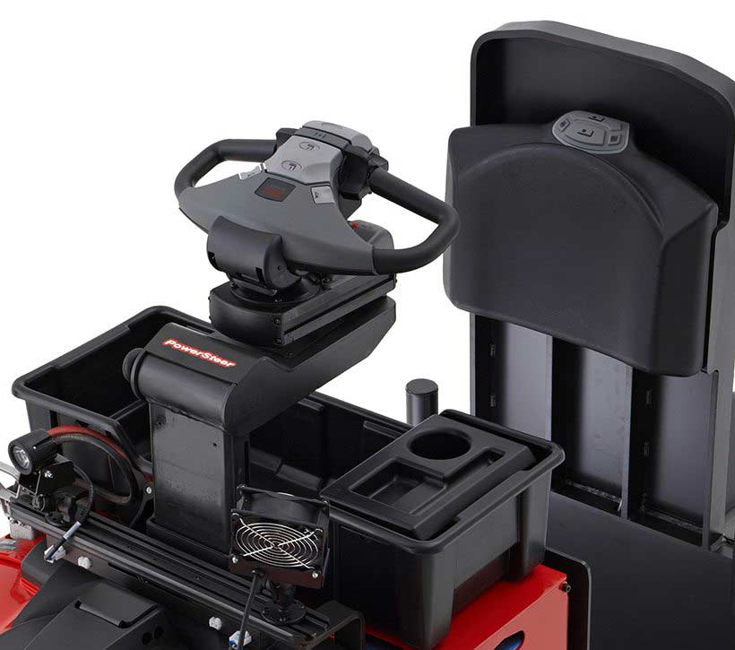 Raymond 8510 Center Riding Pallet Truck Easy-to-Use Controls