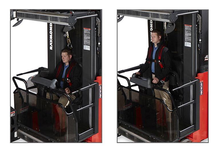 Raymond 9800 Swing Reach Truck Operating Positions