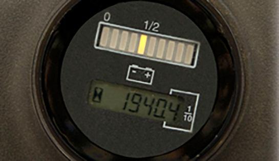 Raymond walkie stackers battery discharge indicator
