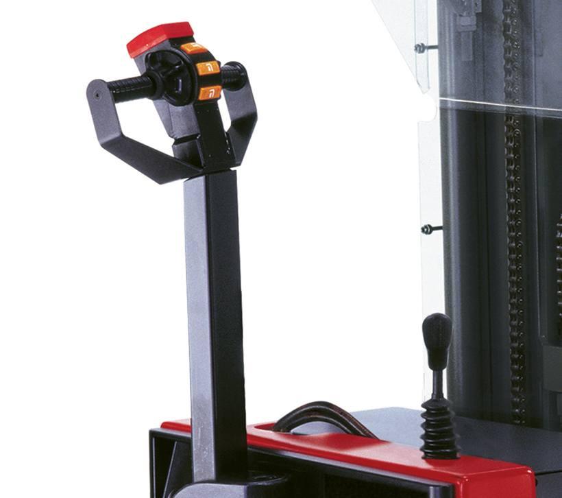 Raymond RSS walkie straddle stacker secondary lift lower controls