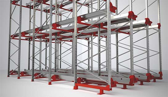 Pallet Shuttle System Racking structure