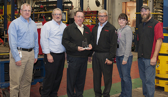 Raymond presented with Toyota President's Award