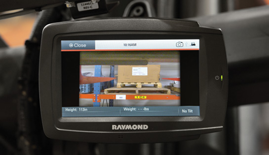 Raymond Vantage Point Camera for High Rack in Narrow Aisle Applications