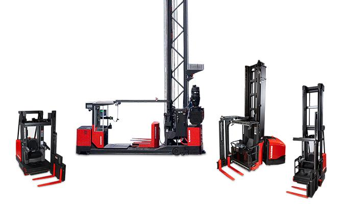 Raymond Swing-Reach Trucks